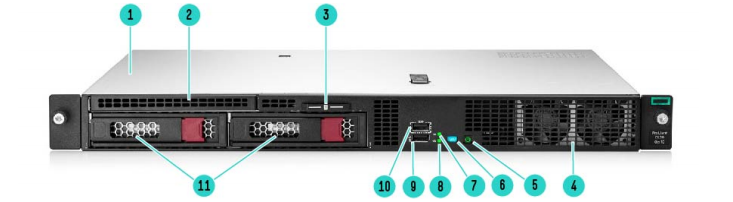 HPE ProLiant DL20 Gen10 Rack Server 1