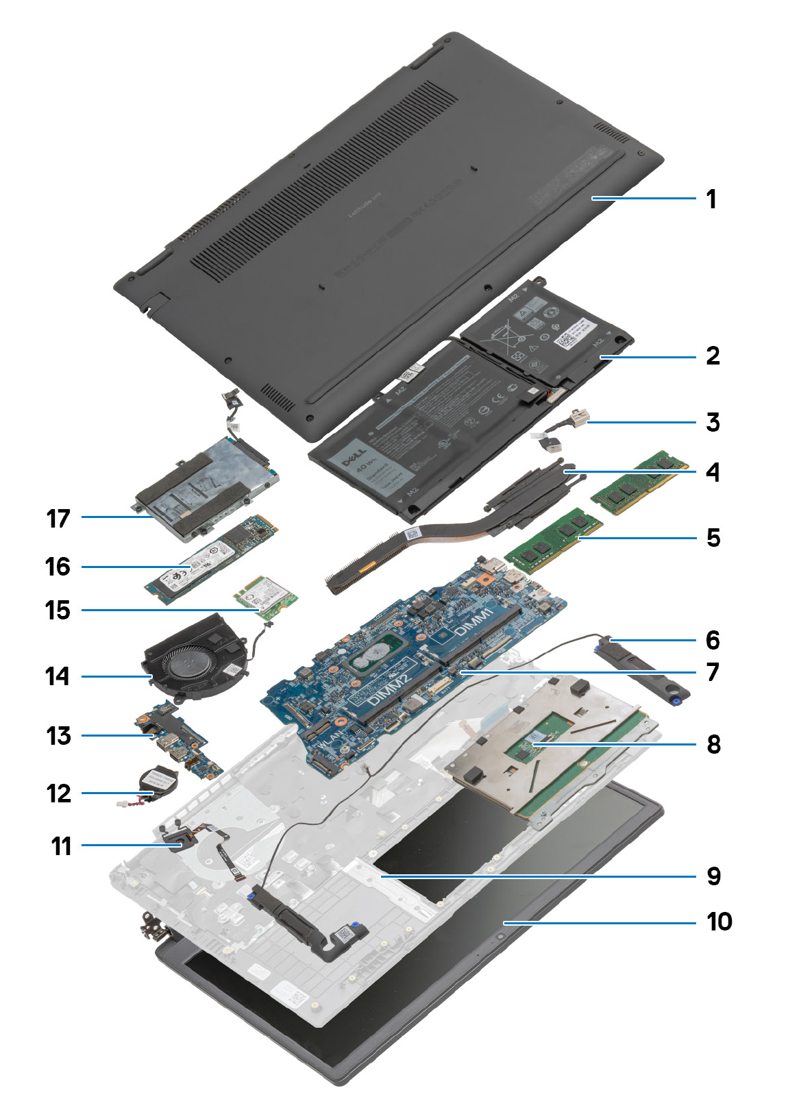 Dell Latitude 3410 Exploded View