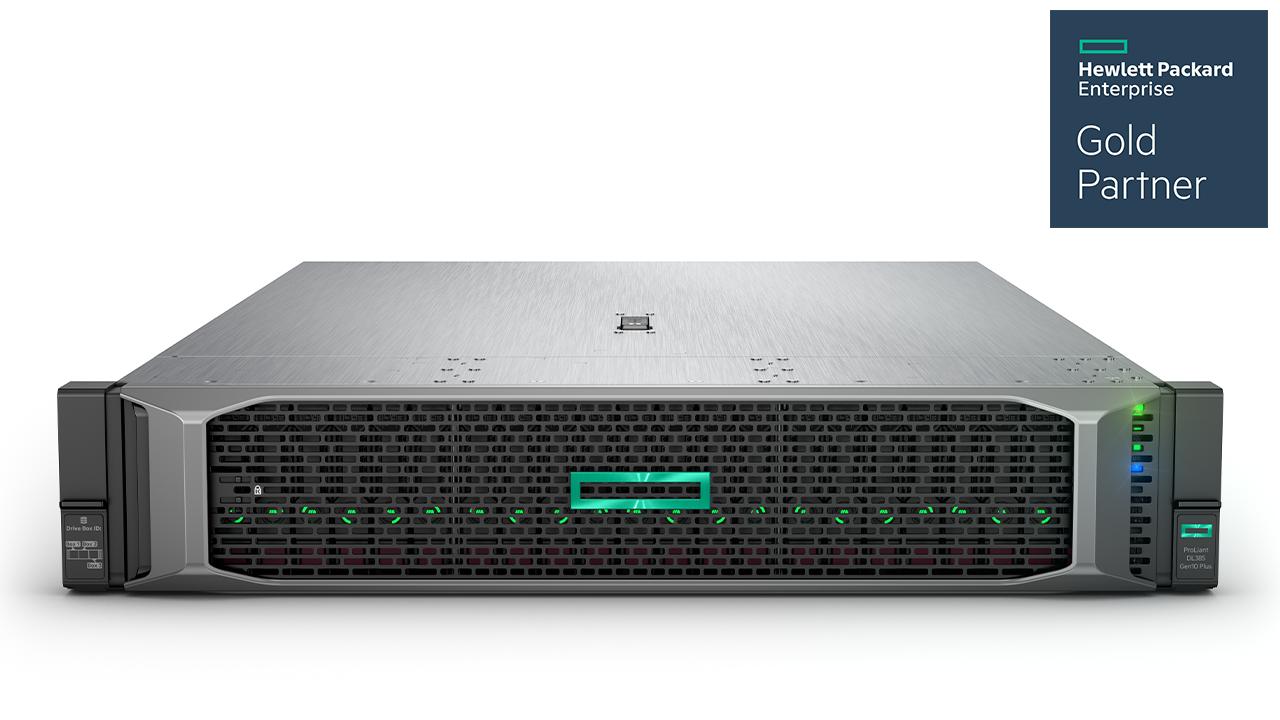 HPE ProLiant DL385 Gen10 Plus Server Imagery - Front with bezel