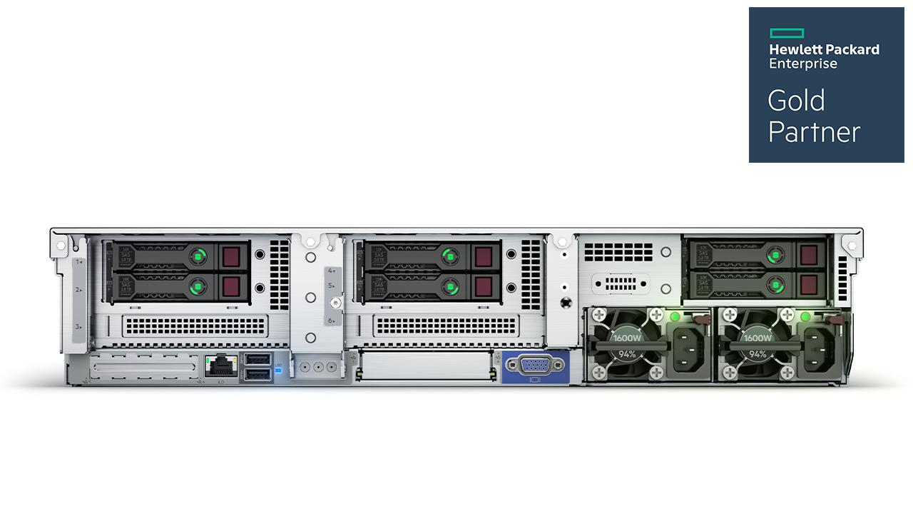 HPE ProLiant DL385 Gen10 Plus Server Imagery - Rear (No Perspective)