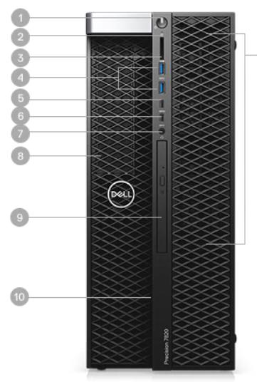 Dell Precision Desktop Workstation T5820 Tower in UAE 3