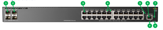 Aruba 2930F 24G PoE+ 4SFP Switch 2