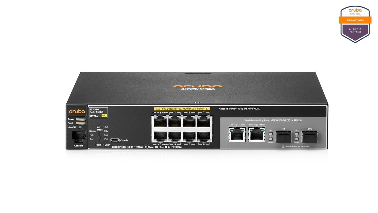 Aruba 2530 8G PoE+ Switch 1