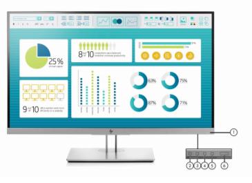 HP EliteDisplay E273 27- inch Monitor 3