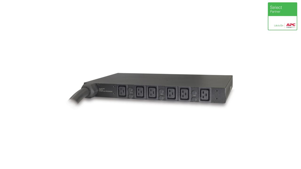 Rack PDU, Basic, 1U, 14.4kW, 208V, (6) C19 2