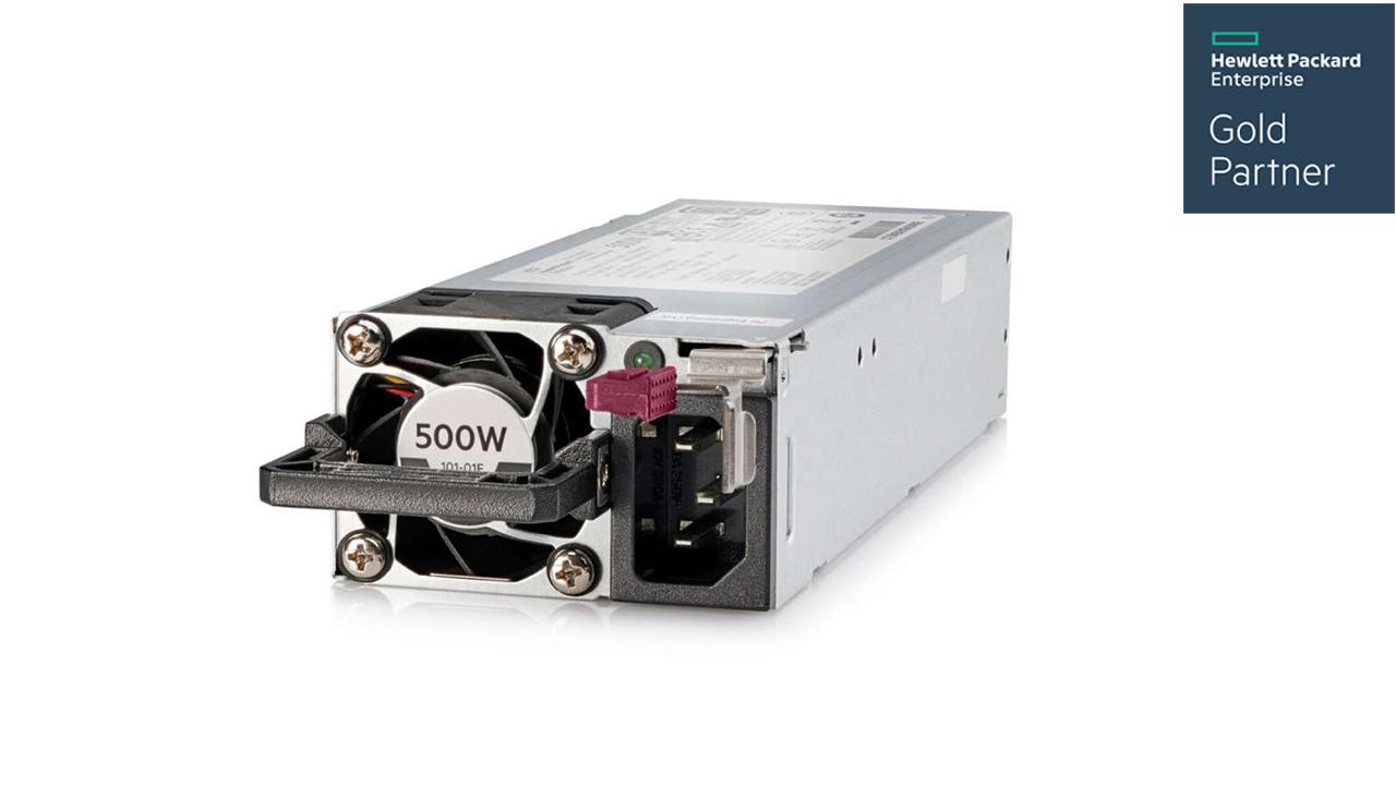 HPE 500W Flex Slot Platinum Hot Plug Low Halogen Power Supply kit For Gen10 1